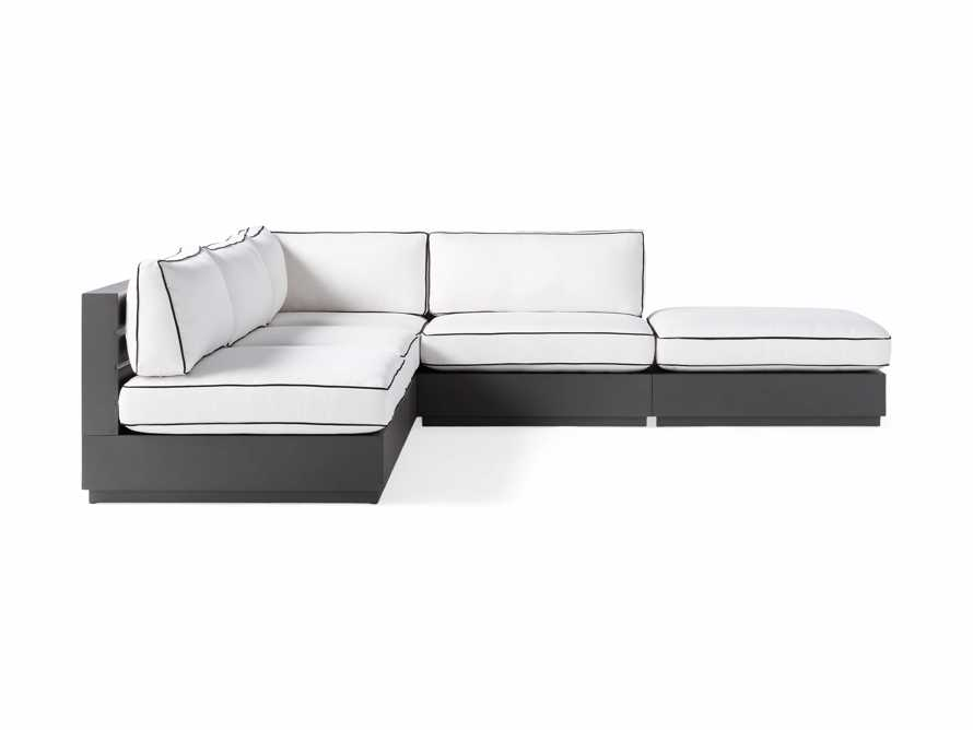 """Bal Harbour Outdoor Aluminum Five Piece 117"""" L-Shaped Sectional with Flange, slide 3 of 8"""