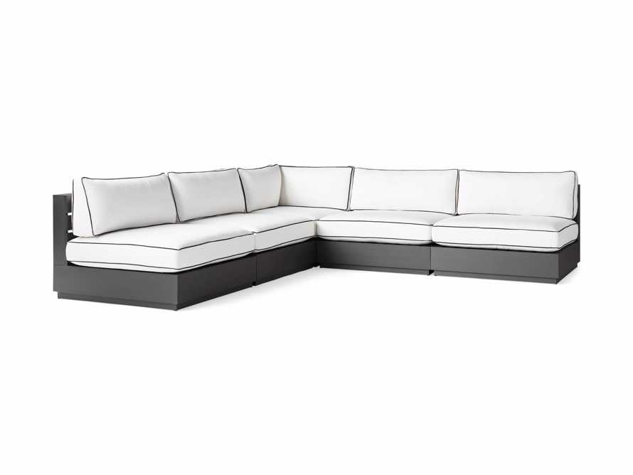 "Bal Harbour Outdoor Aluminum 117"" Five Piece Corner Sectional with Flange, slide 5 of 8"