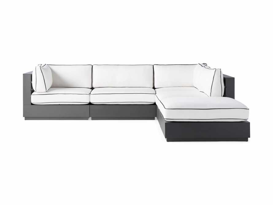 """Bal Harbour Outdoor Aluminum 117"""" Five Piece Sectional with Flange, slide 3 of 7"""
