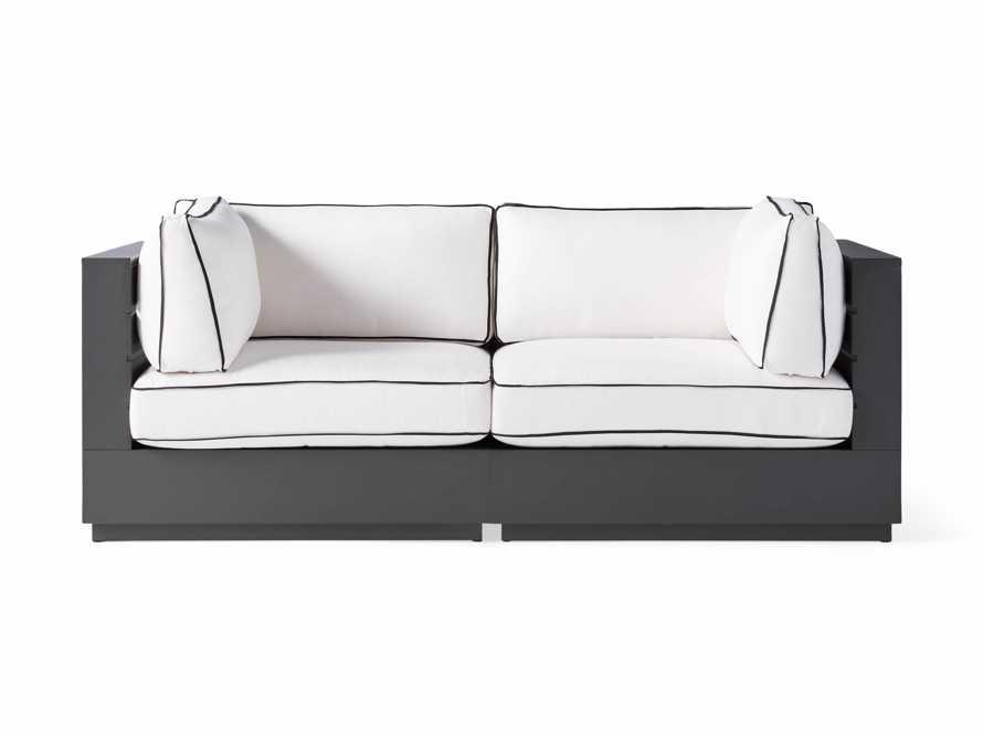 "Bal Harbour Outdoor Aluminum 78"" Modular Sofa with Flange, slide 2 of 6"
