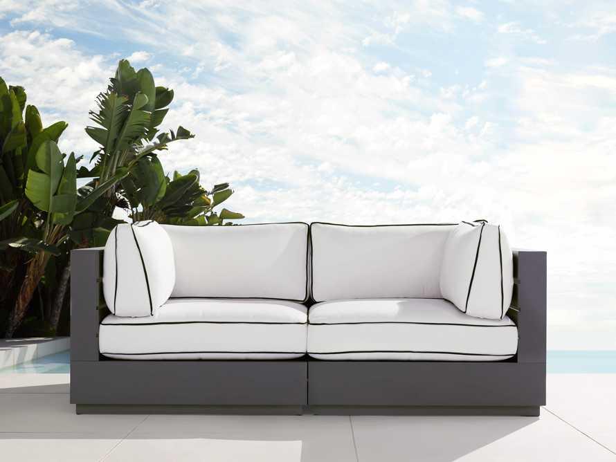 "Bal Harbour Outdoor Aluminum 78"" Modular Sofa with Flange, slide 1 of 6"