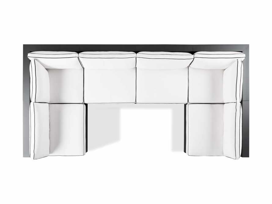 """Bal Harbour Outdoor Aluminum 156"""" Six Piece U-Shaped Sectional with Flange, slide 5 of 6"""