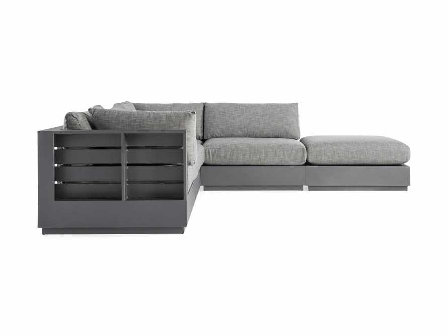 Bal Harbour Outdoor Aluminum Five Piece L Shape Sectional with Ottoman, slide 3 of 6