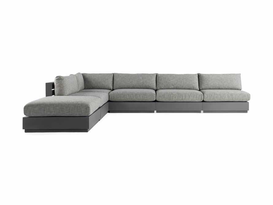 Bal Harbour Outdoor Aluminum Six Piece L Shape Sectional, slide 2 of 5
