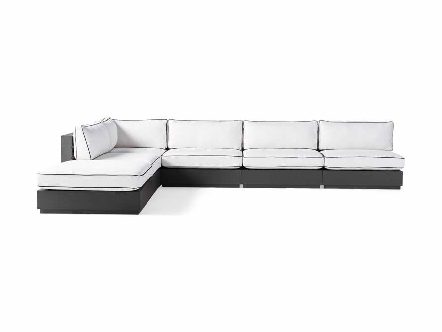 """Bal Harbour Outdoor Aluminum 156"""" Six Piece L-Shaped Sectional with Flange, slide 3 of 8"""