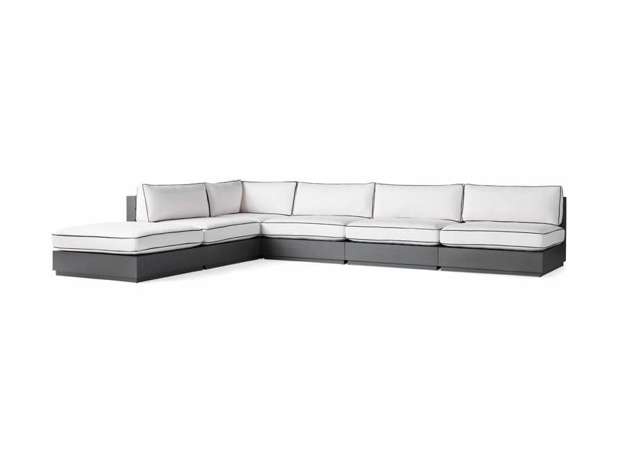 """Bal Harbour Outdoor Aluminum 156"""" Six Piece L-Shaped Sectional with Flange, slide 5 of 8"""