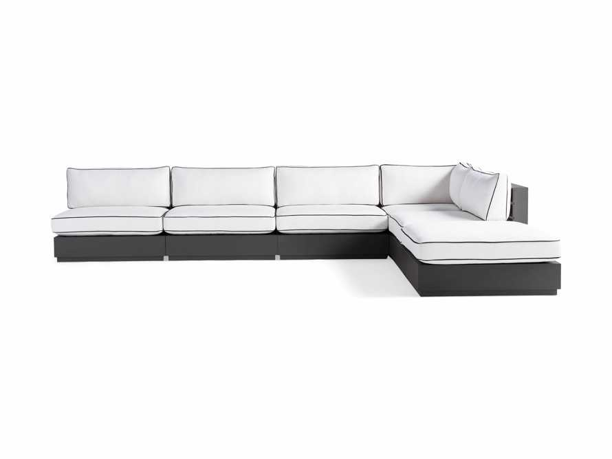 """Bal Harbour Outdoor Aluminum 156"""" Six Piece L-Shaped Sectional with Flange, slide 4 of 8"""