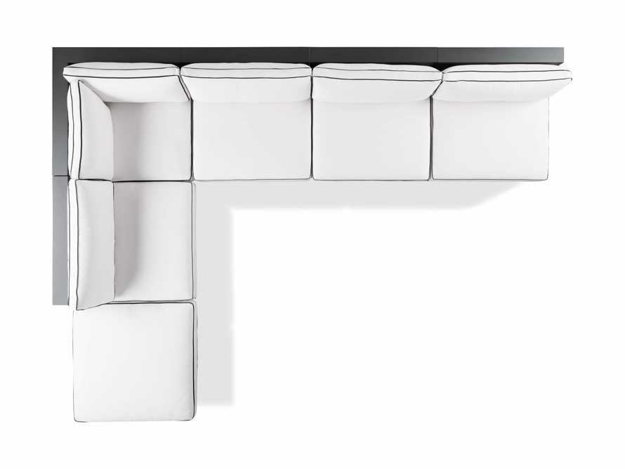 """Bal Harbour Outdoor Aluminum 156"""" Six Piece L-Shaped Sectional with Flange, slide 7 of 8"""