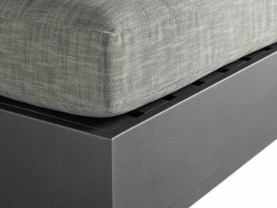 Bal Harbour Outdoor Aluminum Ottoman, slide 4 of 4