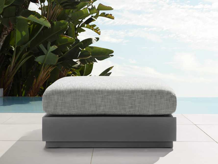 Bal Harbour Outdoor Aluminum Ottoman, slide 1 of 4