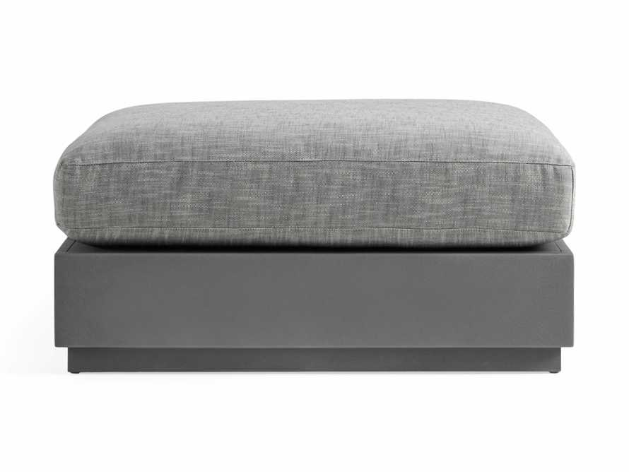 Bal Harbour Outdoor Aluminum Ottoman, slide 2 of 4