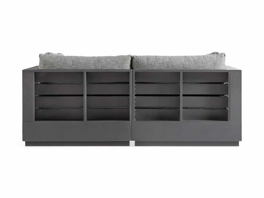 """Bal Harbour Outdoor Aluminum 78"""" Sofa in Starboard Mink, slide 4 of 5"""