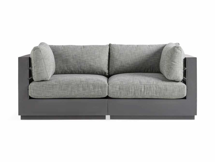 """Bal Harbour Outdoor Aluminum 78"""" Sofa in Starboard Mink, slide 2 of 5"""