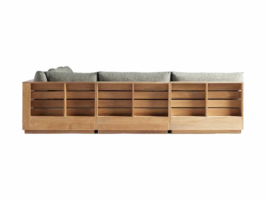 "Bal Harbour Outdoor Teak 117"" Five Piece Corner Sectional in Starboard Mink, slide 3 of 4"