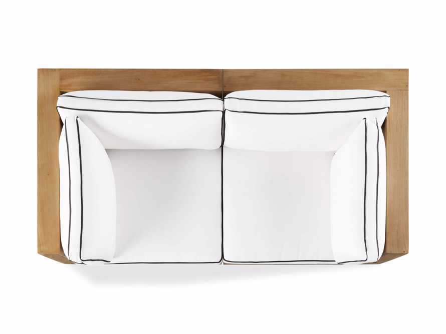 "Bal Harbour Outdoor Teak 78"" Modular Sofa with Flange, slide 5 of 6"