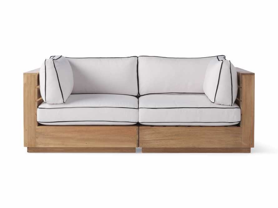 "Bal Harbour Outdoor Teak 78"" Modular Sofa with Flange, slide 2 of 6"