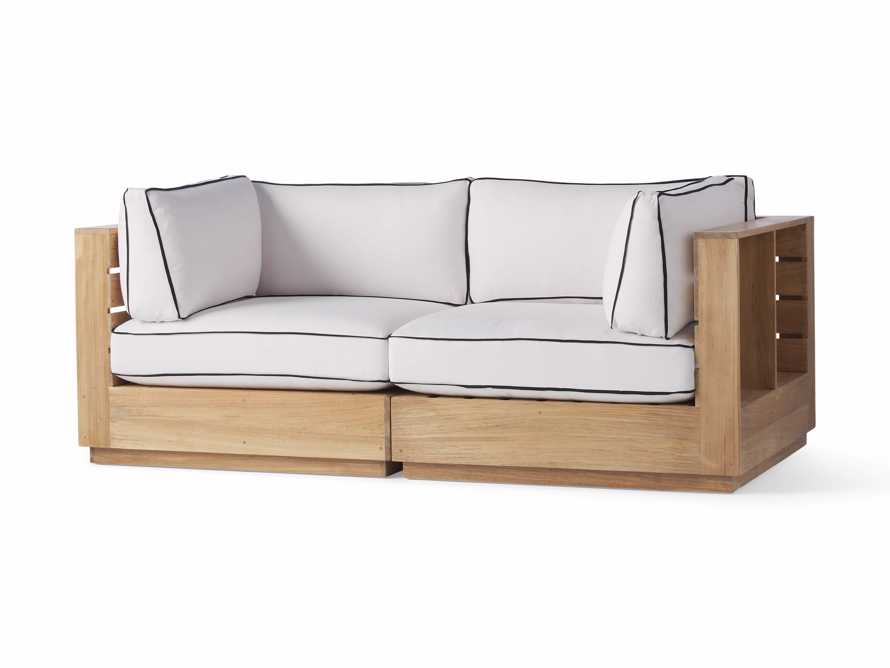 "Bal Harbour Outdoor Teak 78"" Modular Sofa with Flange, slide 3 of 6"
