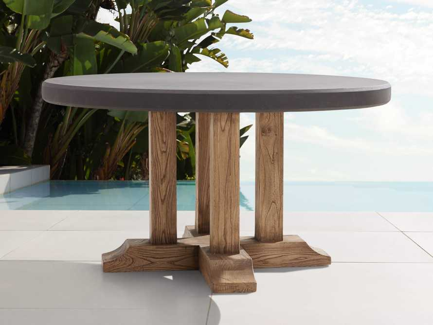 """Bourdeaux Outdoor 54"""" Round Dining Table, slide 1 of 4"""