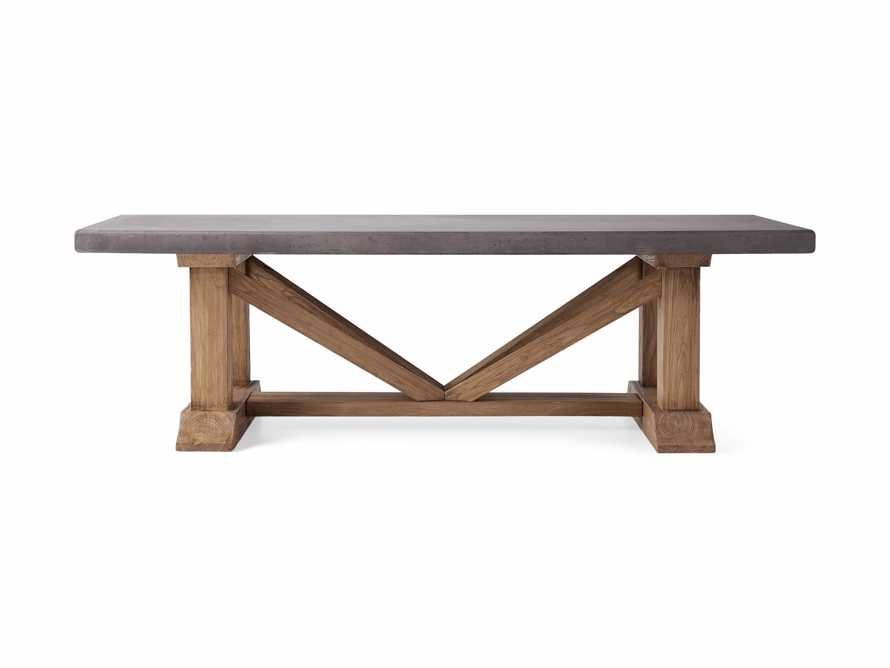 """Bourdeaux Outdoor 84"""" Stone Dining Table, slide 3 of 7"""