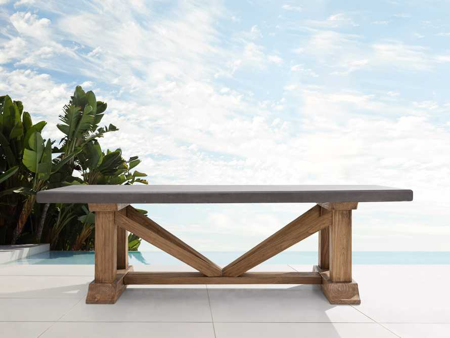 """Bourdeaux Outdoor 84"""" Stone Dining Table, slide 2 of 7"""