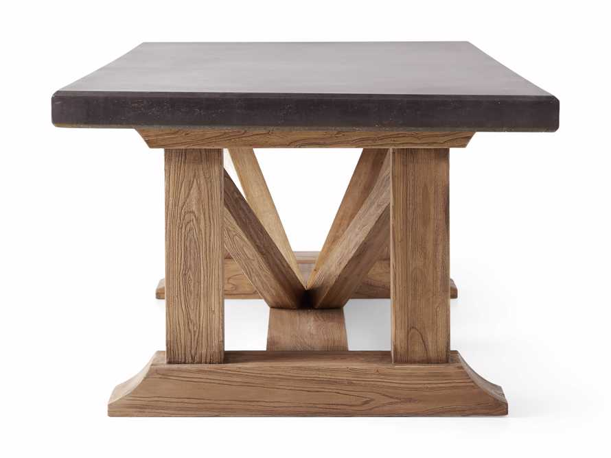 "Bourdeaux Outdoor 96"" Reconstructed Stone Dining Table, slide 4 of 7"