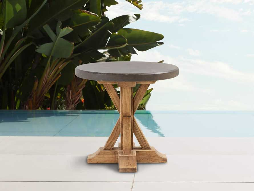 "Bourdeaux Outdoor 26"" Round End Table, slide 1 of 6"