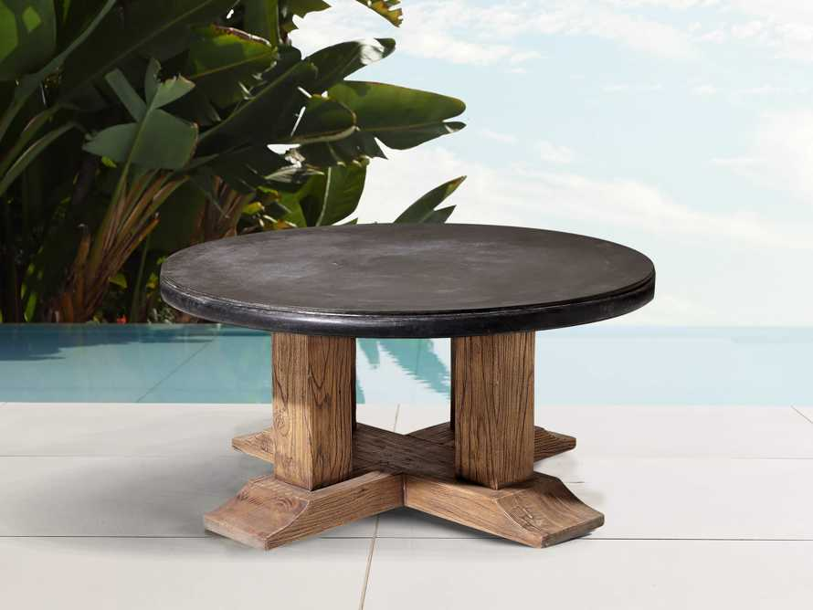 "Bourdeaux Outdoor 36"" Round Coffee Table, slide 1 of 4"
