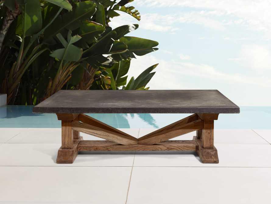 "Bourdeaux Outdoor 63"" Coffee Table, slide 1 of 5"