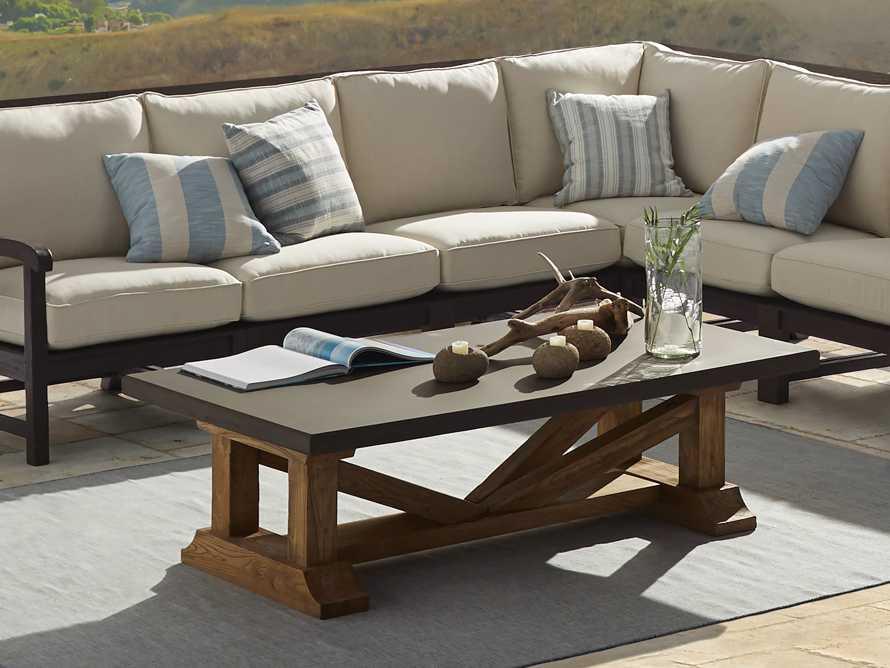 "Bourdeaux Outdoor 63"" Coffee Table, slide 2 of 5"