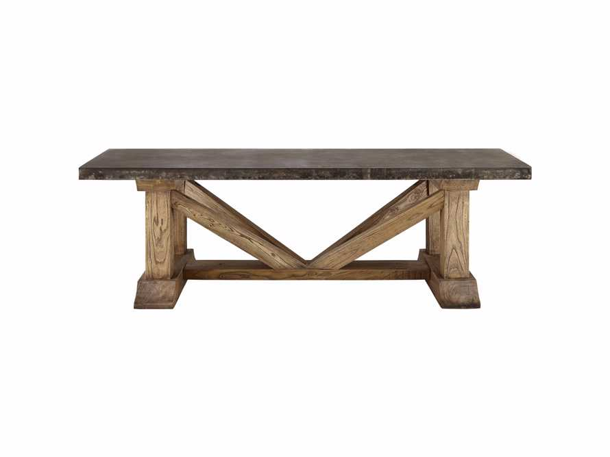 "Bourdeaux Outdoor 84"" Reconstructed Stone Dining Table"