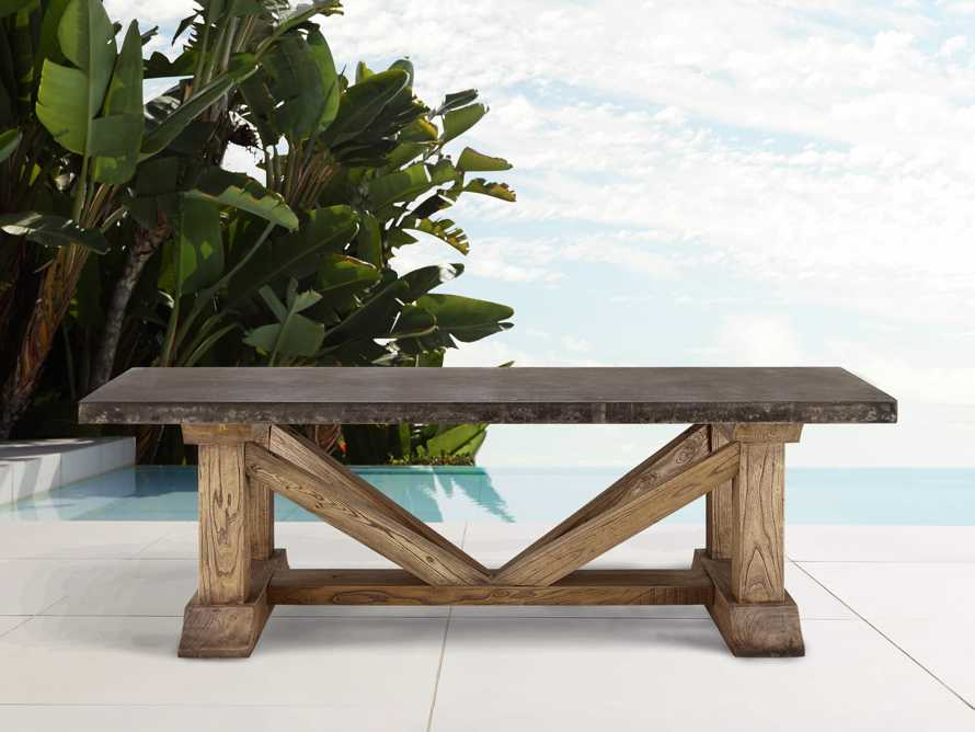 "Bourdeaux Outdoor 84"" Reconstructed Stone Dining Table, slide 2 of 8"
