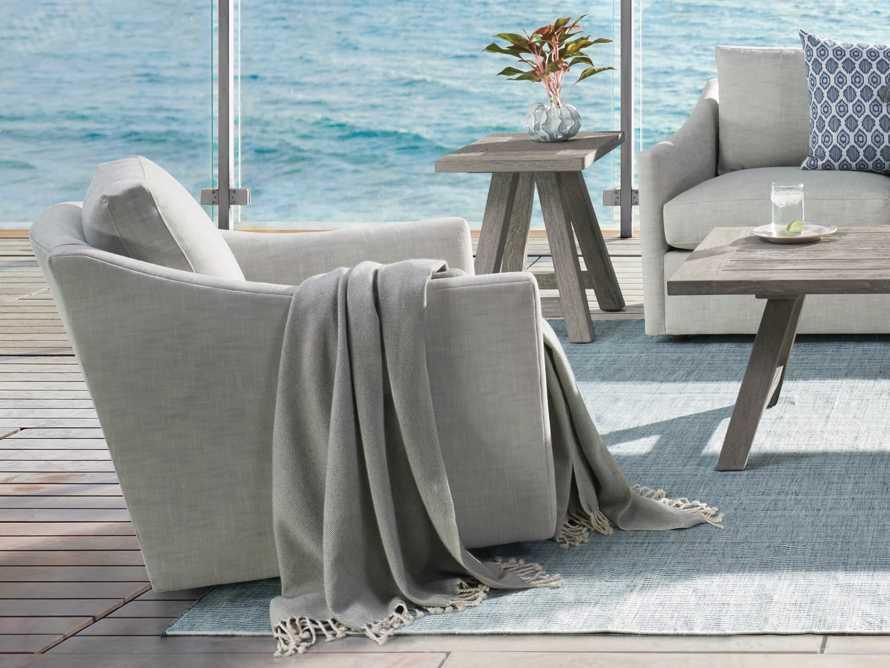 "Branson Outdoor 31"" Swivel Lounge Chair, slide 2 of 10"