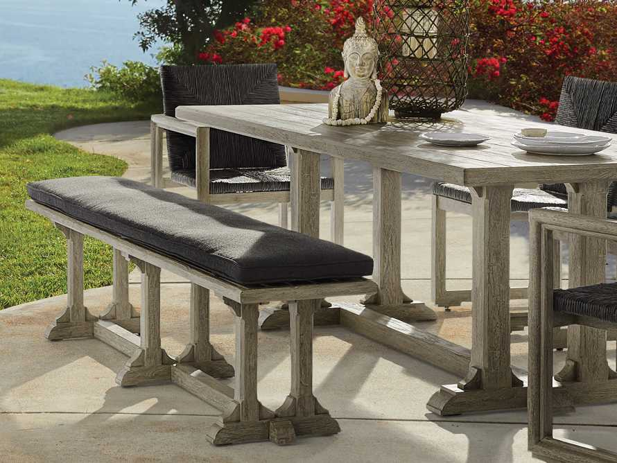 """Calistoga Outdoor 74"""" Dining Bench, slide 1 of 6"""