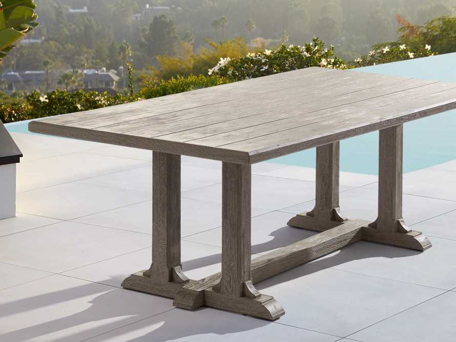 "Calistoga Outdoor 84"" Rectangle Dining Table, slide 2 of 5"
