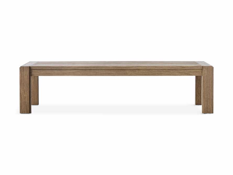 "Canyon Outdoor 60"" Teak Dining Bench, slide 2 of 5"