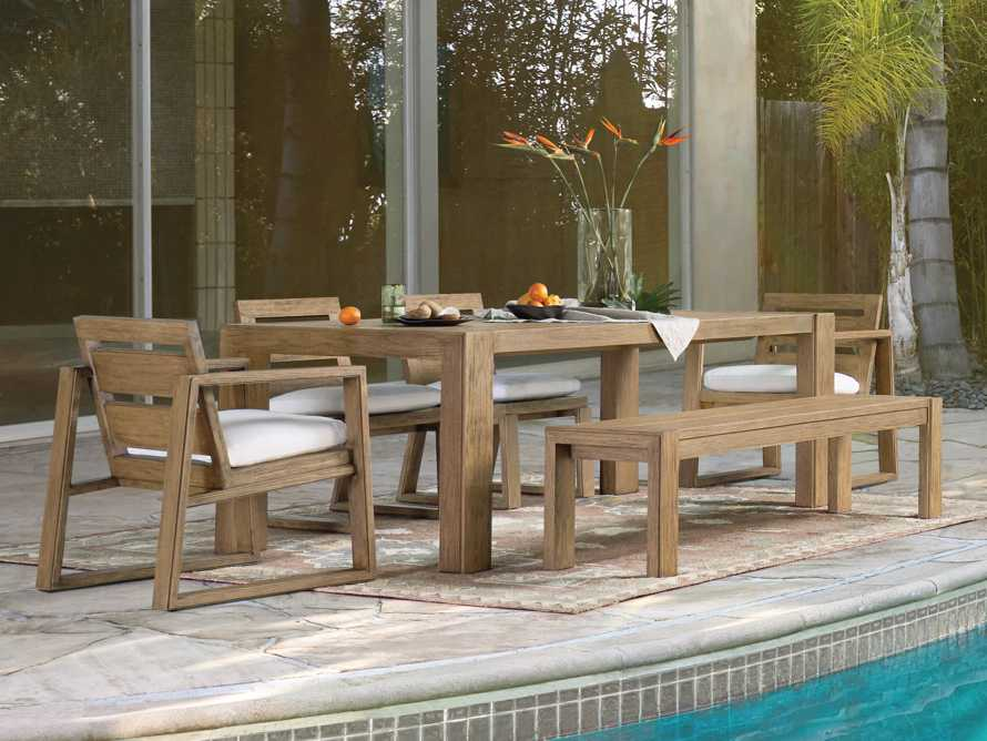 "Canyon Outdoor 60"" Teak Dining Bench, slide 5 of 5"