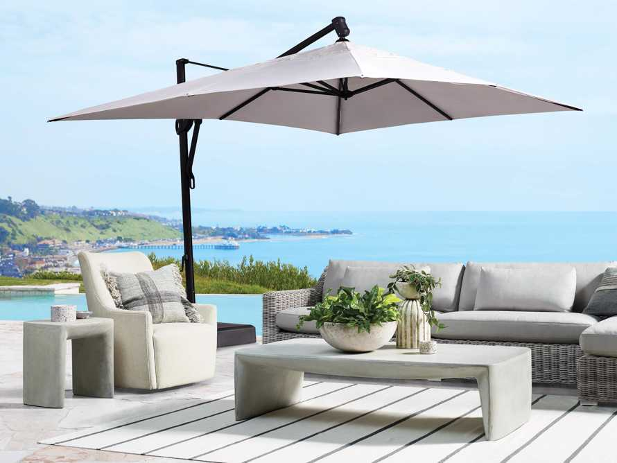 Cantilever 10' x 13' Outdoor Umbrella in Champagne, slide 1 of 5