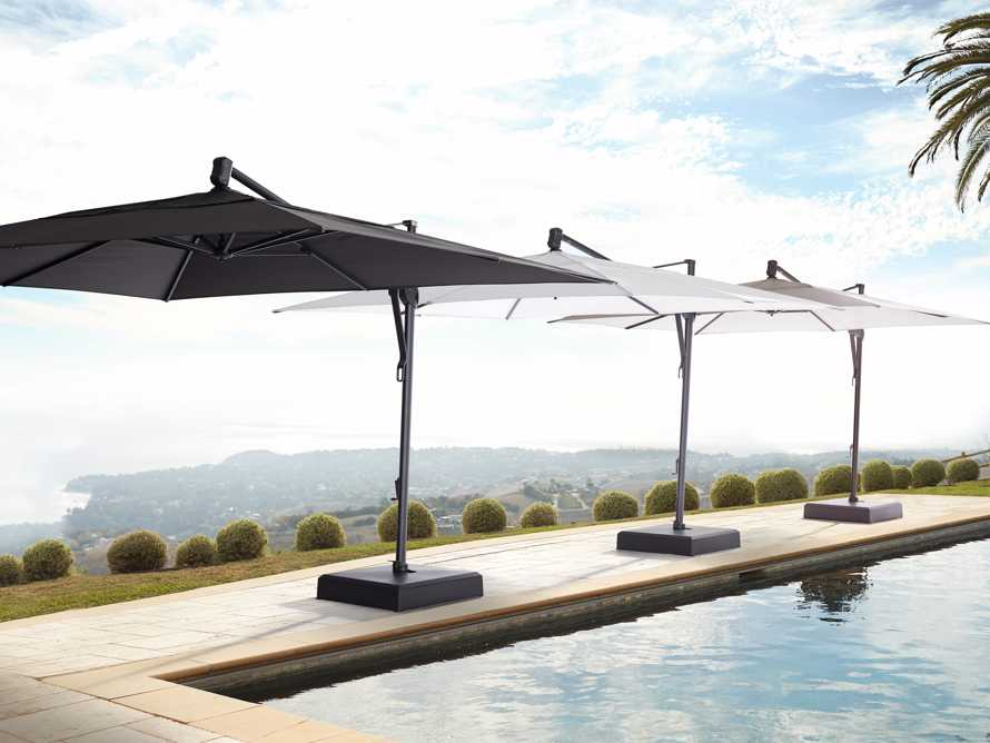 Cantilever 10' x 13' Outdoor Umbrella in Champagne, slide 4 of 5