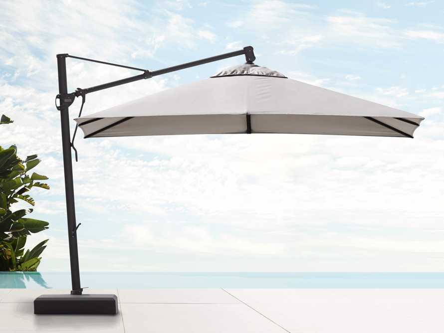 Cantilever 10' x 13' Outdoor Umbrella in Champagne, slide 2 of 5