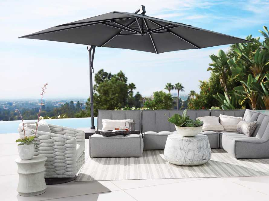 Cantilever 10' x 13' Outdoor Umbrella in Champagne, slide 3 of 5