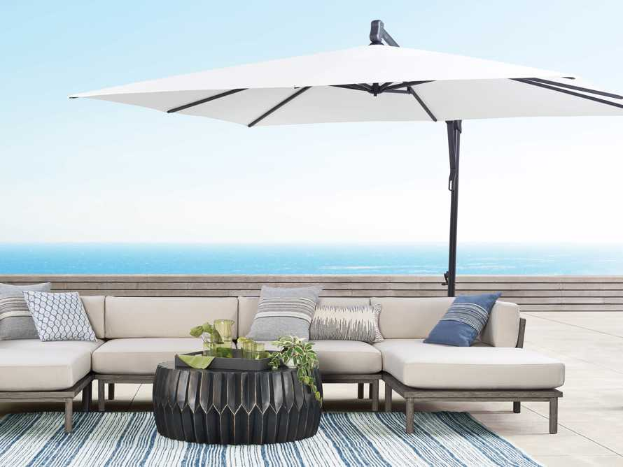 Cantilever 10' x 13' Outdoor Umbrella in Natural, slide 8 of 10