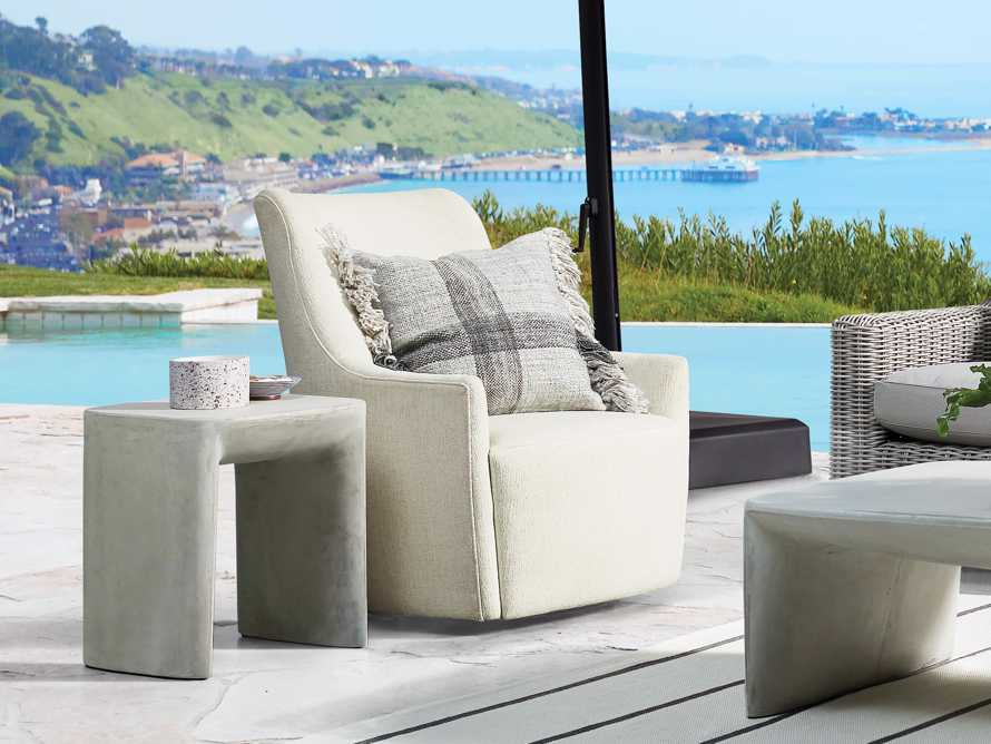 """Cole Outdoor Upholstered 31"""" Swivel Chair, slide 1 of 7"""