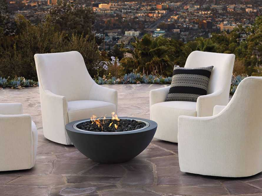 """Cole Outdoor Upholstered 31"""" Swivel Chair, slide 7 of 7"""