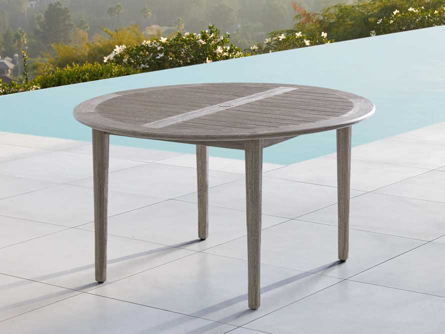 """Costa Outdoor Round 70"""" Dining Table, slide 1 of 8"""
