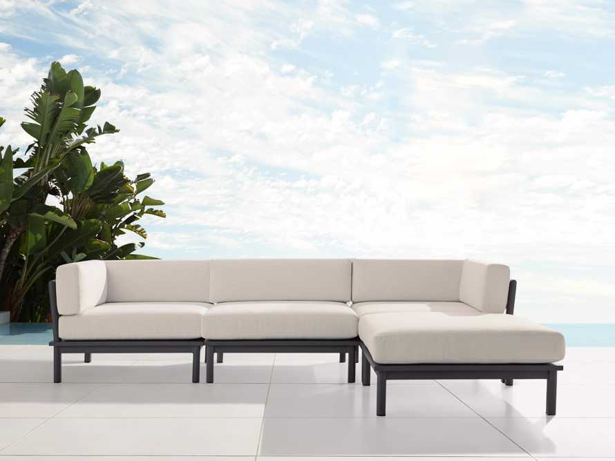 """Costa Outdoor 115"""" Aluminum Four Piece Sectional, slide 2 of 6"""