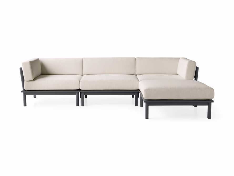 """Costa Outdoor 115"""" Aluminum Four Piece Sectional, slide 3 of 6"""