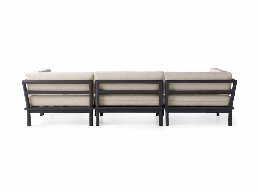 """Costa Outdoor 115"""" Aluminum Four Piece Sectional, slide 5 of 6"""