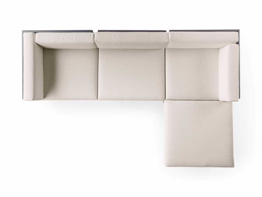"""Costa Outdoor 115"""" Aluminum Four Piece Sectional, slide 6 of 6"""