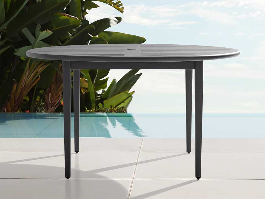 "Costa Outdoor 54"" Round Aluminum Dining Table, slide 1 of 4"