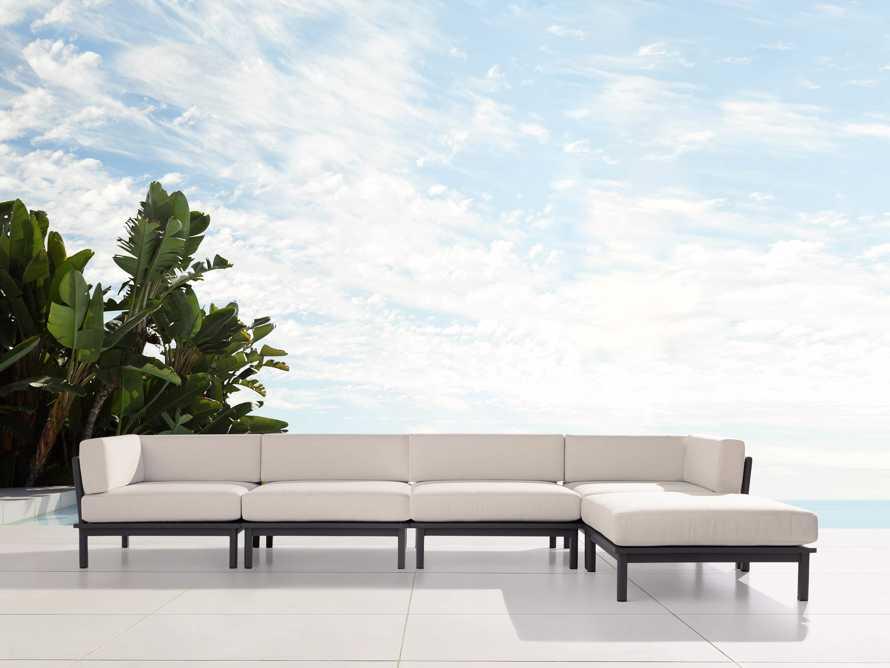 "Costa Outdoor 153"" Aluminum Five Piece Sectional, slide 1 of 4"
